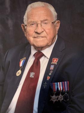 Joseph J Mawdsley in Blazer with medals