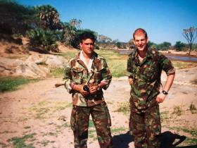 Kevin Robins and T Turner Ex Grand Prix in Kenya early 1990s