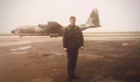 Kevin Hughes at Liverpool Airport 1985