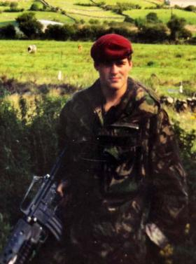 Kevin Robins whilst serving with 1 Para