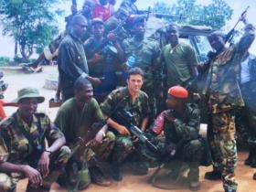 Kevin Robins in Sierra Leone with the locals