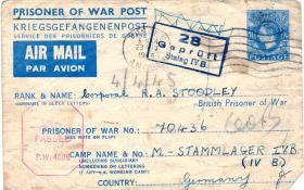 POW card for Robert Stoodley