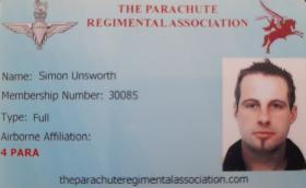 PRA Membership Card Simon Unsworth