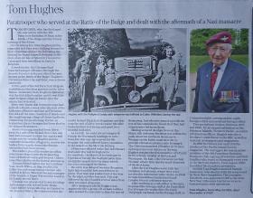 Daily Telegraph Obituary of Tom Hughes
