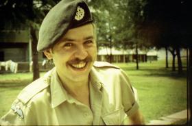 Christopher J Allen at RAF Gan on his 24th birthday