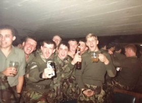Members of 10 Para Celebrating at the end of Ex Lionheart 1984