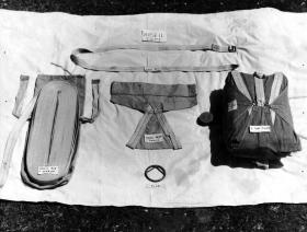 Image from Airborne Assault Archives showing abseil equipment for tree jumping