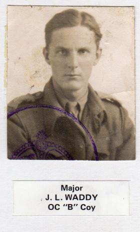 John Waddy when OC of B Coy, 156 Bn