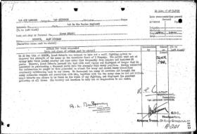 Lt AD Roberts 1 Bn Borders Silver Star Citation
