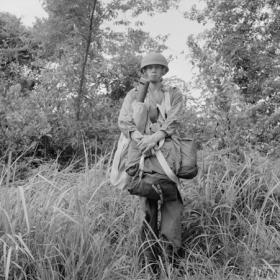 November 1957 70lb pack ready for tree jumping