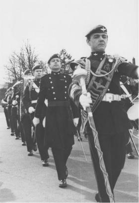 1 PARA Band performing and marching