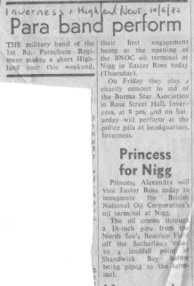 Newspaper Article on 1 PARA Band in Scotland, 1982.