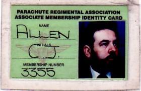 PRA Card for Christopher J Allen