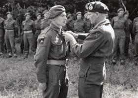 Pte J Millward receives MM from Monty