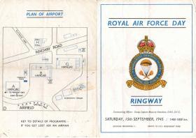 RAF Ringway Open Day Programme 1945