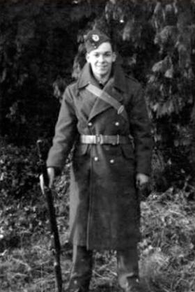 Sapper Tom Hicks aged 20 at Longmoor 1939