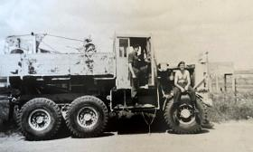 Michael Paternoster with Scammell Explorer, Dhekelia, Cyprus, 1963