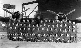 Servicing Wing No1 PTS Ringway in front of Beaufighter