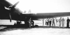 Emplaning a Dakota C47