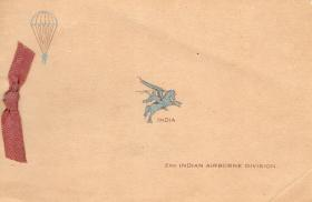Greetings Card with Elephant point image inside, 2nd Indian Airborne Division, India, 1945