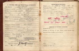 Pte J Montgomery Pay Book