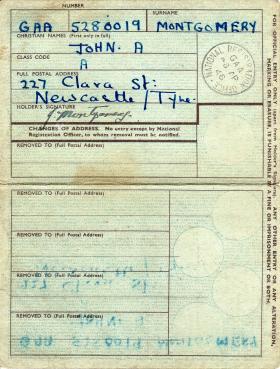 Pte JA Montgomery National ID Card