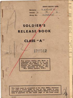 LSgt D Keeler release book December 1946