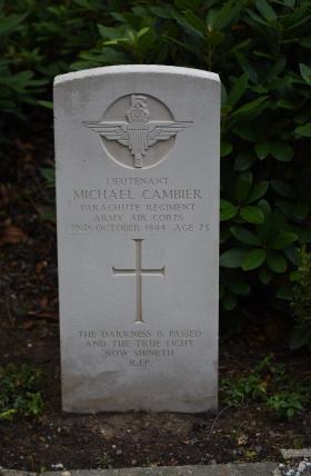 Gravestone of HMA Cambier, Vorden General Cemetery