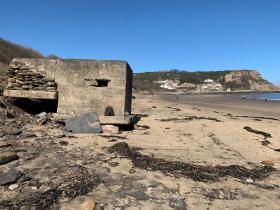 Images of a bunker built byJohn Sanderson
