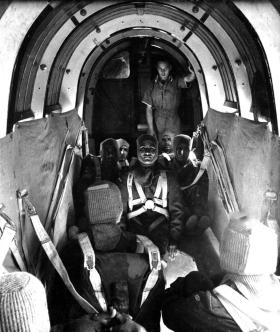 Indian O.Rs aboard a Whitley 1944