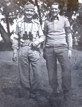 John Sanderson and Indian Army Colleague, both Umpires