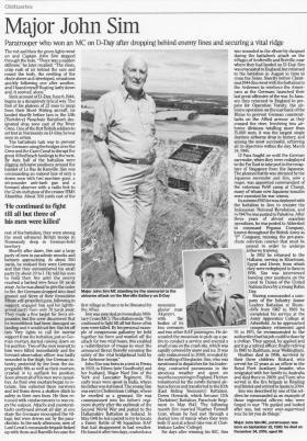 Times Obituary for Major J A N Sim MC