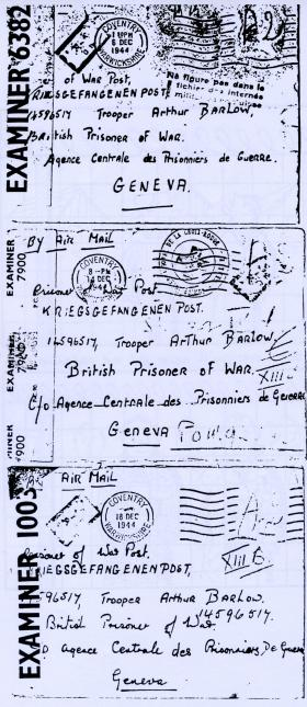 Arthur Barlow POW Letter