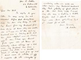 Sgt RG Hill letters home