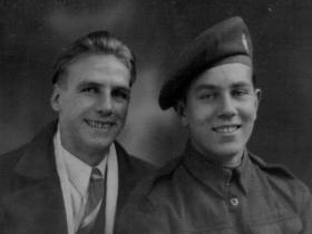 Richard Bruce with a friend, John Falls 1940