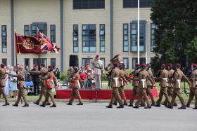 Colours Presentation July 2021 at Merville Barracks, Colchester
