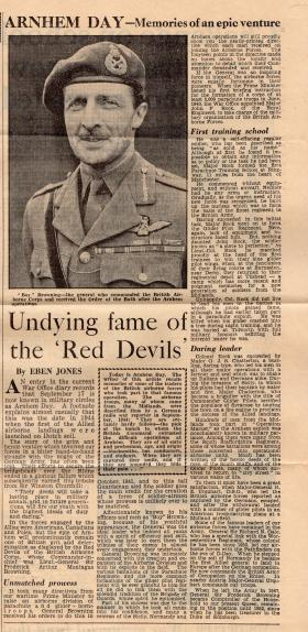 Arnhem Day newspaper cutting