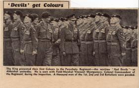 Presentation of Colours 1950 'Devils Get Their Colours'