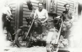 Tpr Chalky White and Jimmy Cooke dispatch riders in Haselbakken, Norway 1945