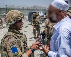 Soldiers from 16 Air Assault Brigade on Op Pitting, Kabul, August 2021.