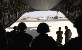 British Forces arriving in Afghanistan on Op Pitting