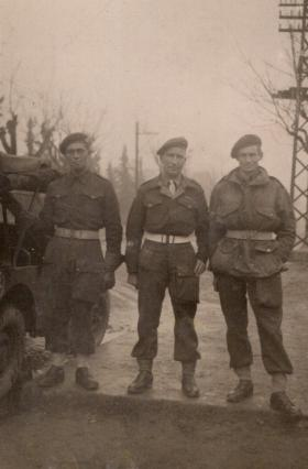 FG Tansley (Centre), Greece, 1944.