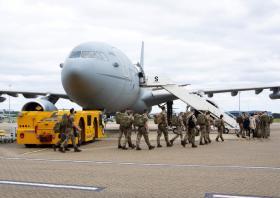 Op Pitting 2021 Members of 16 AA depart RAF Brize Norton for Afghanistan