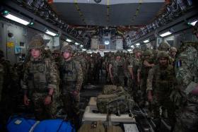 Members of 16 Air Assault Brigade arrive in Kabul on Op Pitting