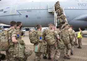 Op Pitting UK Forces deploying a RAF Voyager destined for Kabul