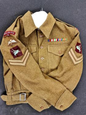 Battle Dress Blouse of Cpl Harold Bruce 21st Ind Para Company