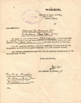POW Documents of Ronald Brooker