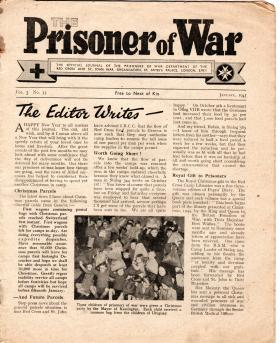 Prisoner of War Newspaper cutting owned by Ronald Brooker
