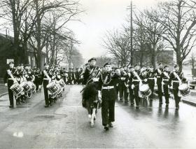 'Ringway' leads a Parachute Regiment parade, 1966