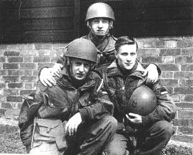 'Scouse' Wright with friends at Parsons Barracks, Aldershot, 1959
